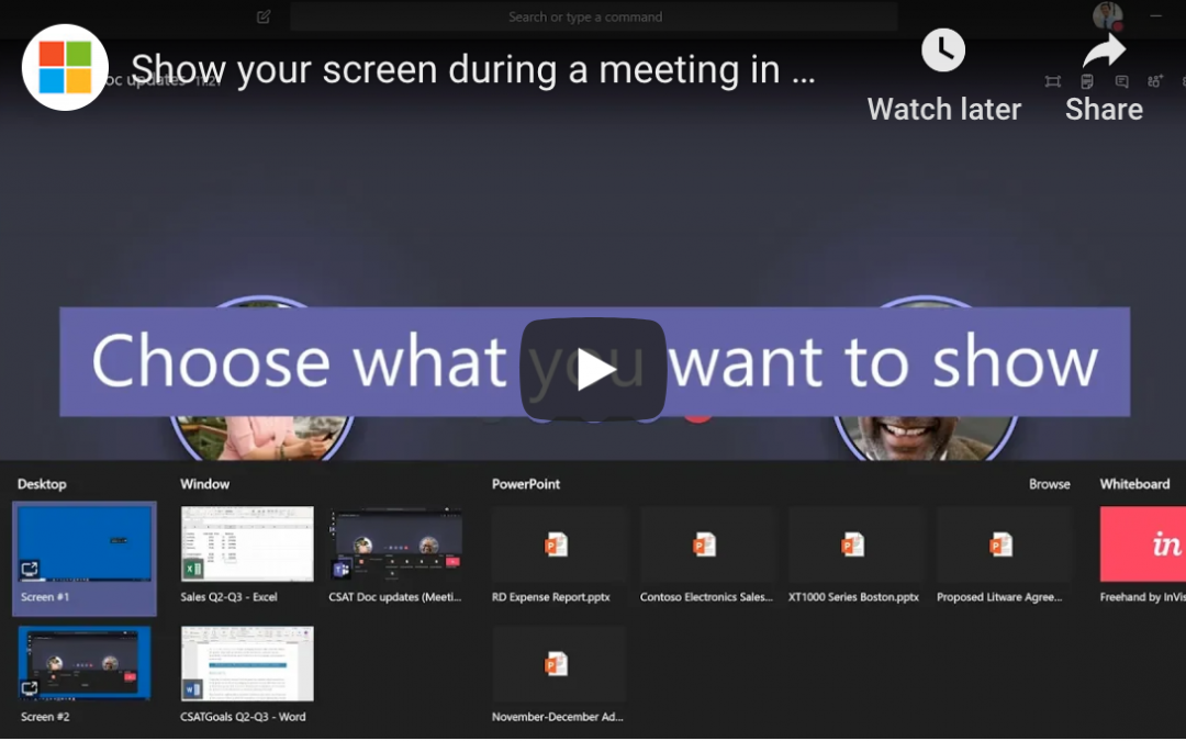 How to Share Screens with Microsoft Teams